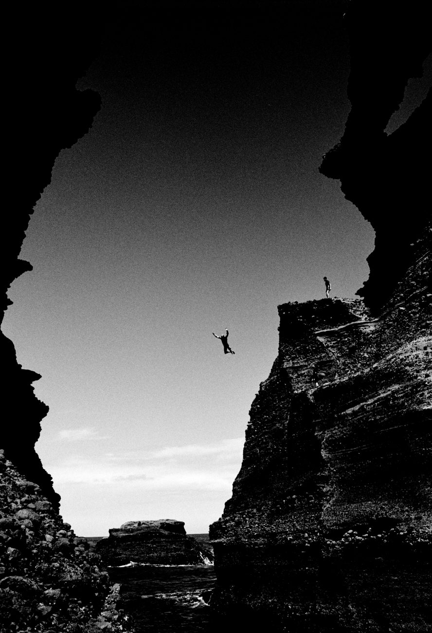 The prodigious leap from a rock known as The Nun is undertaken only by the most audacious.