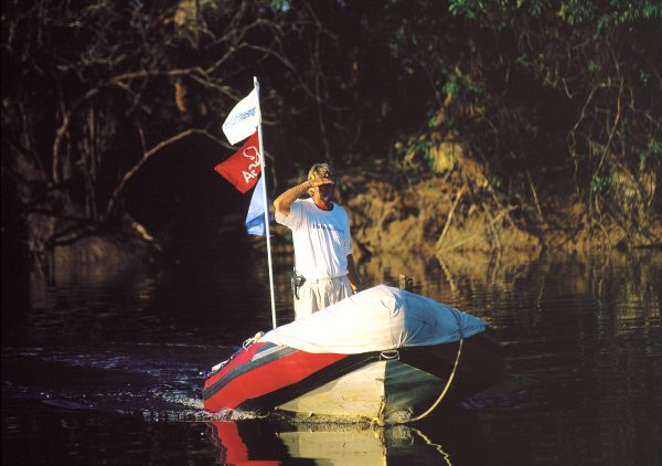 """Testing the waters of new tributaries and a new vocation, Blake brought to the amazon his skills as a sailor and leader and his enthusiasm for a big challenge: """"to restart people caring for the environment as it must be cared for."""" He was not given the chance to pursue that vision."""
