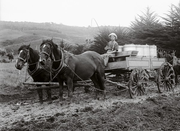 The two-horsepower transportation of yesteryear, while carrying far smaller loads, managed on roads that would be the undoing of today's glittering tankers.