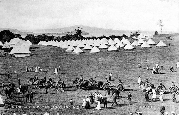 The Domain served the battalion as the location for Easter camps (above) and fifty men were sent as Rough Riders to the Boer War (bottom).