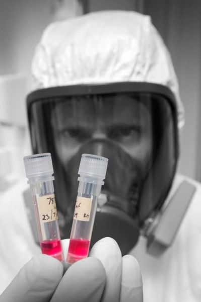 NIC scientist Richard Hall with vials of cultured novel A H1N1 virus. The Epidemic Preparedness Act 2006 gives health officials wide powers to prevent the spread of quarantinable diseases as modern methods of food production and highly mobile populations make the emergence of a deadly virus to rival the 1918 pandemic increasingly likely.