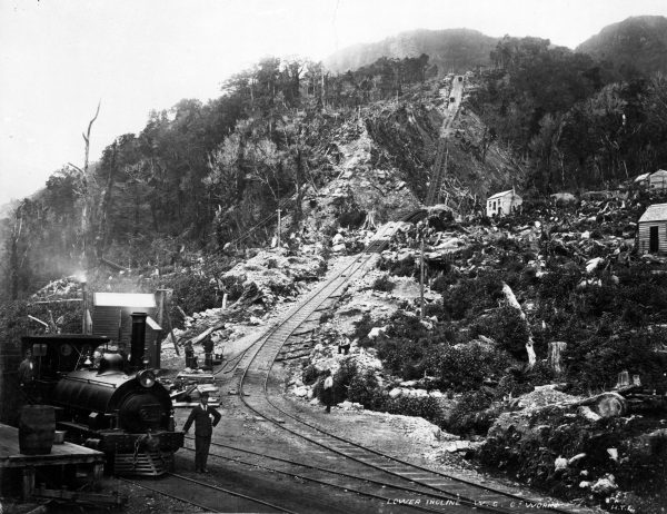 "Wagons laden with seven tons of coal hurtled down the 1670 m-long Denniston Incline to marshalling yards where the load was transferred to trains bound for Westport. The incline, hailed as the ""eighth wonder of the world"", operated from 1879 to 1967."