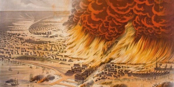 On Sunday, October 8, 1871, windy weather whipped a small fire on Chicago's Southwest Side into a three-day calamity that killed at least 300 people, left one-third of the population homeless and vaporised around $200 million (in 1871 US dollars) worth of property.