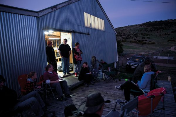 Depending on the time of day hunters walk into the woolshed, there are cheese rolls, caramel squares, thick wedges of bacon and egg pie, an array of barbequed meats and a constant stream of coffee and milo on offer: an impressive logistical effort honed over the years.