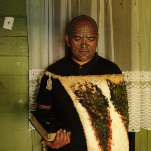 Patrick 'Onion' Orupe stands in the home that belonged to his tipuna, the prophet Rua Kenana, at Tuapou marae in the Matahi Valley.