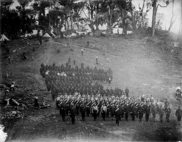 "At their camp on the outskirts of Parihaka, volunteer soldiers lined up prior to the November 5 assault, known to Parihaka residents as ""the day of plunder"". After the invasion, when it became known that the heavily armed fighting force had been met by singing children and gifts of food, some newspapers mocked the Native Minister's ""gratuitously and uselessly tyrannical conduct""."