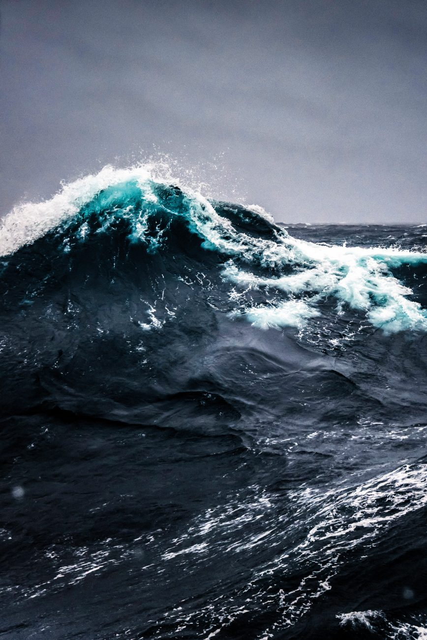 The Southern Ocean roils and licks at the gunwales of the NIWA research vessel Tangaroa. The most remote and inhospitable ocean on the planet, it is also the least studied, and a major focus of effort for the scientists of the Deep South Challenge.