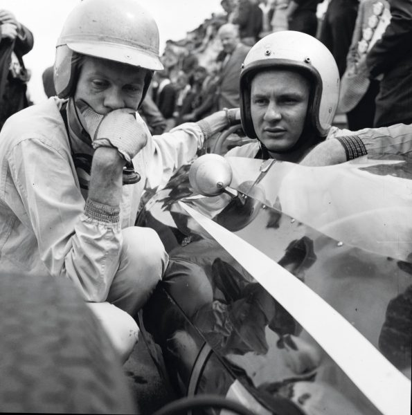 He continued racing with Cooper—pictured, with teammate Tony Maggs—until the impulse to design and build his own cars became too strong. He launched his namesake team in 1963.